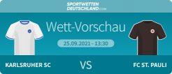 Karlsruhe - St. Pauli Wetten Tipp Quoten Prognose